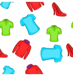 Types of clothes pattern cartoon style vector