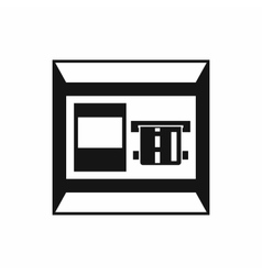 Atm icon simple style vector
