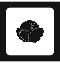 Cabbage icon simple style vector