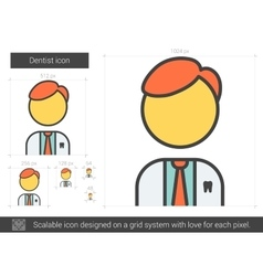 Dentist line icon vector