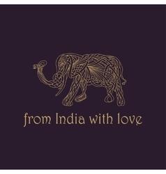 Emblem of an elephant vector