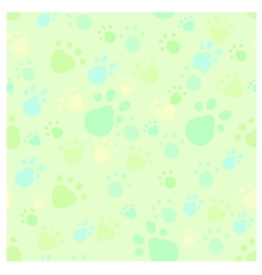 Pet legs imprint seamless vector image