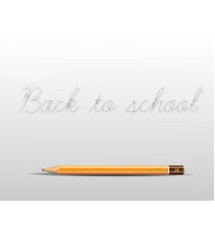 back to school poster with a pencil and space for vector image