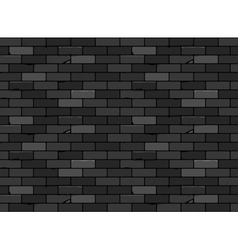Wall brick seamless pattern Black vector image