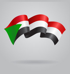 Sudanese waving flag vector