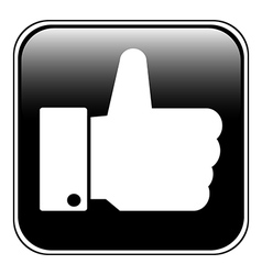 Thumb up button vector