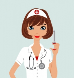 Beautiful nurse vector