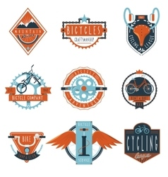 Cycling club labels emblems set vector