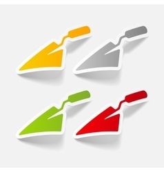 Realistic design element trowel vector