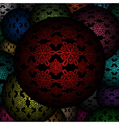 Decorative balls as background vector