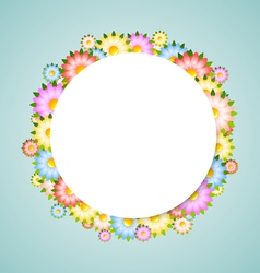 Flower bubble vector