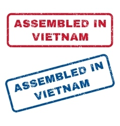 Assembled in vietnam rubber stamps vector