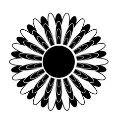 black and white silhouette of a flower in an vector image