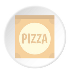 cardboard box with pizza icon circle vector image