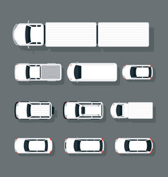 cars various type top or above view set vector image