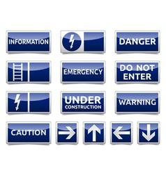 Danger warning sign set vector image vector image