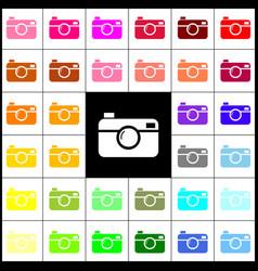Digital photo camera sign felt-pen 33 vector