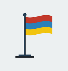 flag of armenia flag stand vector image
