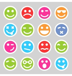 Flat smiley icons vector