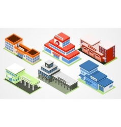 Isometric city departments vector