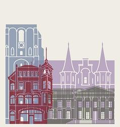 Leeuwarden skyline poster vector
