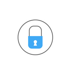 Lock solid icon mobile sign and security vector