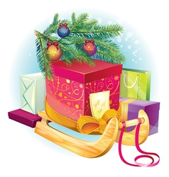 New year gift vector image vector image