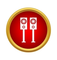 Pair of music speakers icon simple style vector image