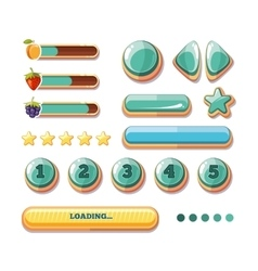 Progress bars buttons boosters icons for vector