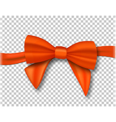 Realistic ribbon isolated on transparent vector