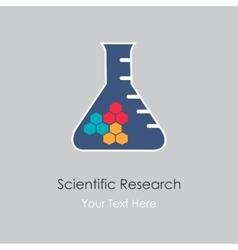 Scientific research vector image vector image