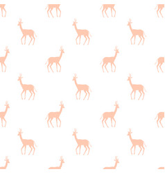 Seamless pattern with colorful antelope vector