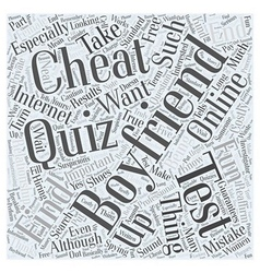 The cheating boyfriend test is there such a thing vector