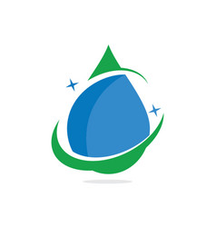 water drop bio ecology logo image vector image