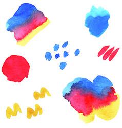 watercolor splash elements vector image