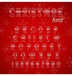 Christmas glass alphabet vector