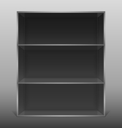 Dark empty isolated bookshelf vector