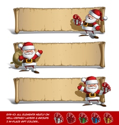 Happy santas papyrus gift set vector