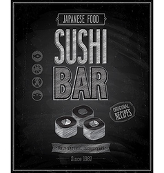 Sushi bar chalk vector