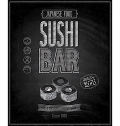 sushi bar chalk vector image