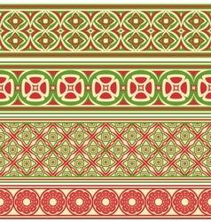 Decorative seamless borders vector image