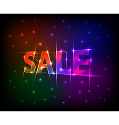 Sale text made of neon lights effect vector