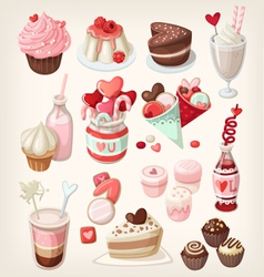 Valentine food vector