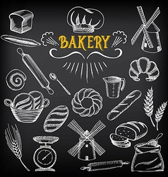 Bread and bakery design Sketch doodle vector image