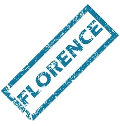 Florence rubber stamp vector