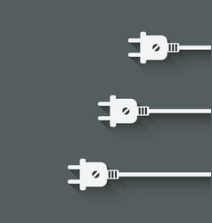 Three electric plugs vector