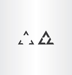 Black oprical triangle design vector