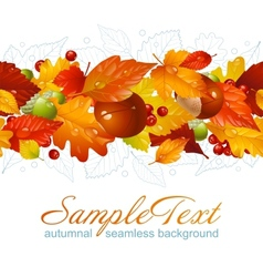 Autumnal seamless horizontal background vector