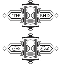 The end graphic element vector