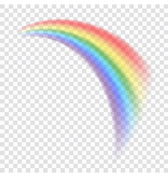 Rainbow icon realistic 8 vector image